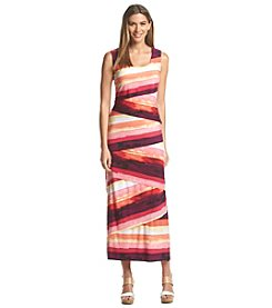 R&M Richards® Striped Maxi Dress