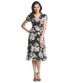 Prelude® Floral Chiffon Ruffle Dress