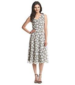 Prelude® Drape Dot Chiffon Dress