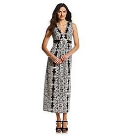 R & M Richards® Printed Maxi Dress