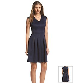 Gabby Skye® Reptile Texture Scuba Dress
