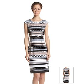 Connected® Striped Belted Dress