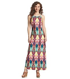 Lennie Braided Printed Halter Dress