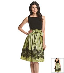 S.L. Fashions Soutache Belted Party Dress