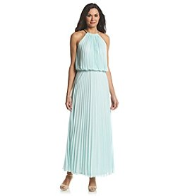 MSK® Pleated Chiffon Maxi Dress