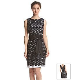 Sangria™ Floral Lace Sheath Dress