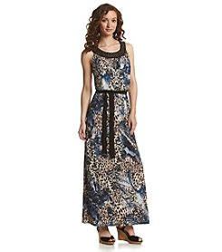R&M Richards® Petites' Beaded Maxi Dress