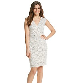 Connected® Petites' Lace And Sequin Dress