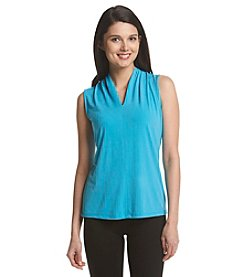 Kasper® Solid Funnel Neck Cami