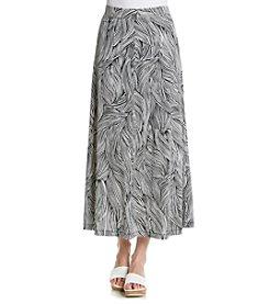 Kasper® Printed A-Line Skirt