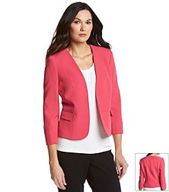Kasper® Stretch Crepe Flyaway Jacket