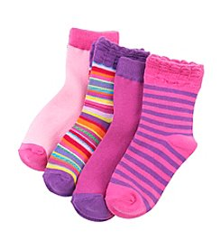 Miss Attitude Girls' Assorted Crew Socks