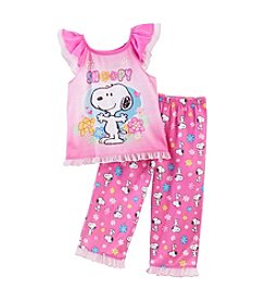Peanuts Girls' 2T-4T 2-Piece Snoopy Set