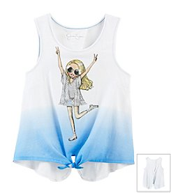 Jessica Simpson Girls' 7-16 Brooklyn Americana Girl Tee