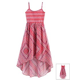 Jessica Simpson Girls' 7-16 Sierra Mosaic Maxi Dress