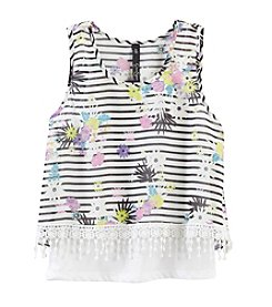 Jessica Simpson Girls' 7-16 Britt Layered Tank