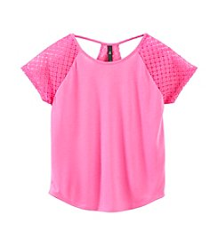 Jessica Simpson Girls' 7-16 Silvia Jersey Lace Top