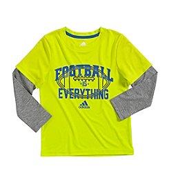 adidas® Boys' 2T-7X Long Sleeve Football Is Everything Layered Tee