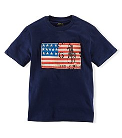 Ralph Lauren Childrenswear Boys' 2T-20 Short Sleeve Flag Tee