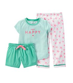 Carter's® Baby Girls' 3-Piece Jersey Pjs