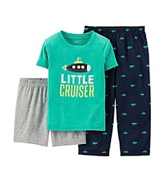 Carter's® Boys' 2T-4T 3-Piece Cotton & Jersey Pjs
