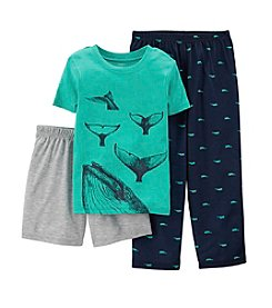 Carter's® Boys' 4-7 3-Piece Cotton & Jersey Pjs