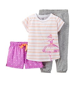 Carter's® Girls' 2T-4T 3-Piece Jersey Pjs