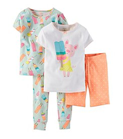 Carter's® Girls' 4-7 4-Piece Snug-Fit Cotton Pjs