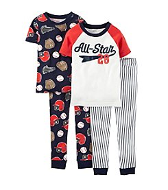 Carter's® Boys' 12M-7 4-Piece Snug-Fit Cotton Pjs