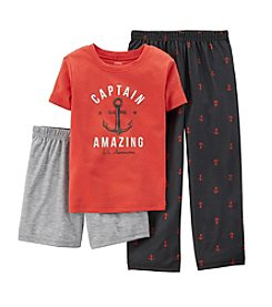 Carter's® Boys' 4-12 3-Piece Cotton & Jersey Pjs