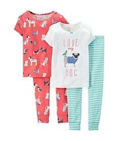 Carter's® Baby Girls' 4-Piece Snug-Fit Cotton Pjs