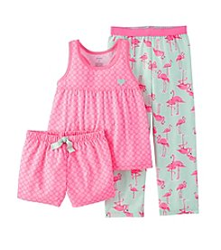 Carter's® Girls' 4-14 3-Piece Jersey Pajamas
