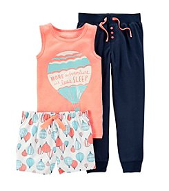 Carter's® Girls' 4-14 3-Piece Jersey & French Terry Pjs