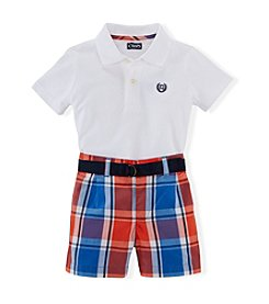 Chaps® Baby Boys' Plaid Shorts Set