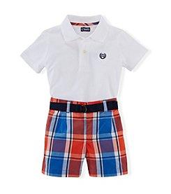 Chaps® Baby Boys' Plaid Shorts Set