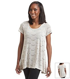 Laura Ashley® Sparkle Melange Tunic