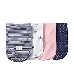 Carter's® Baby Girls' 4-Pack Burp Cloth Set