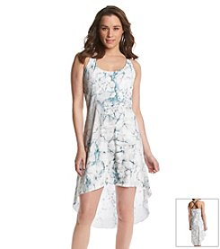 ruff hewn GREY Faux Leather Strap High-Low Dress