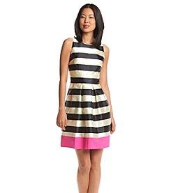 Eliza J® Jacquard Striped Fit And Flare Dress