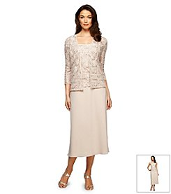 Alex Evenings® Lace Tea Length Jacket Dress