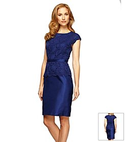 Alex Evenings® Peplum Lace Top Dress