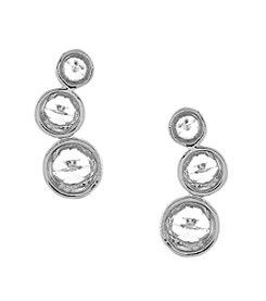 Vince Camuto™ Silvertone Mini Crystal Point Stud Earrings