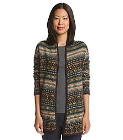 Ruff Hewn Fairisle Open Front Sweater