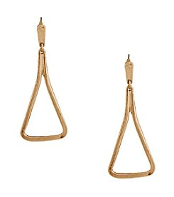Erica Lyons® Goldtone Open Triangle Pierced Earrings