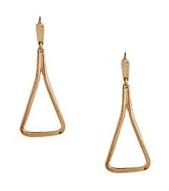 Erica Lyons® Goldtone Open Triangle Pierced Earrings