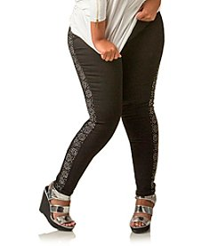 Poetic Justice® Sirena Tuxedo Jewel Skinny Jeans
