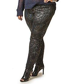 Poetic Justice® Plus Size Maya Print Skinny Jeans