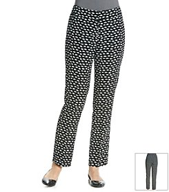 Nine West® Printed Crepe Skinny Pants
