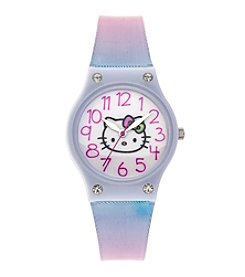 Hello Kitty® Gradient Multicolor Plastic Strap Watch