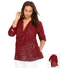 Lauren Ralph Lauren® Plus Size Rolled-Cuff Tunic